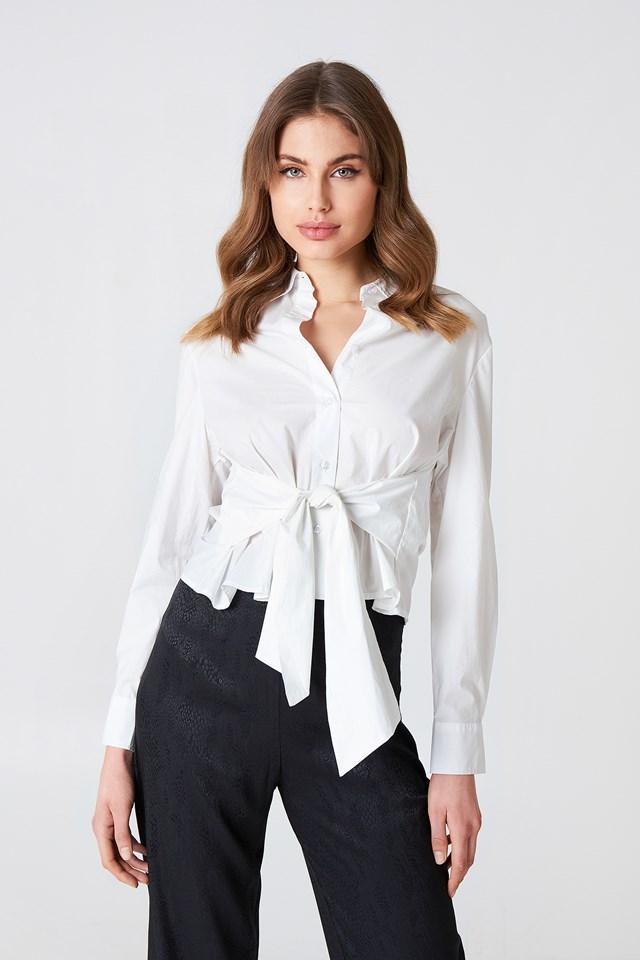 Tie Waist Shirt White