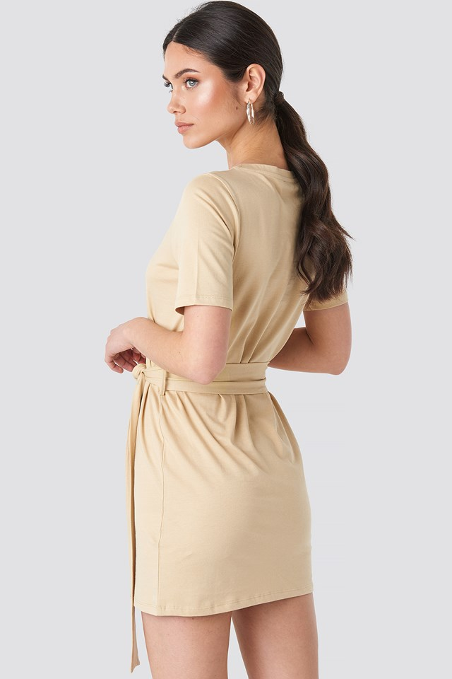 Tie Waist T-shirt Dress NA-KD.COM