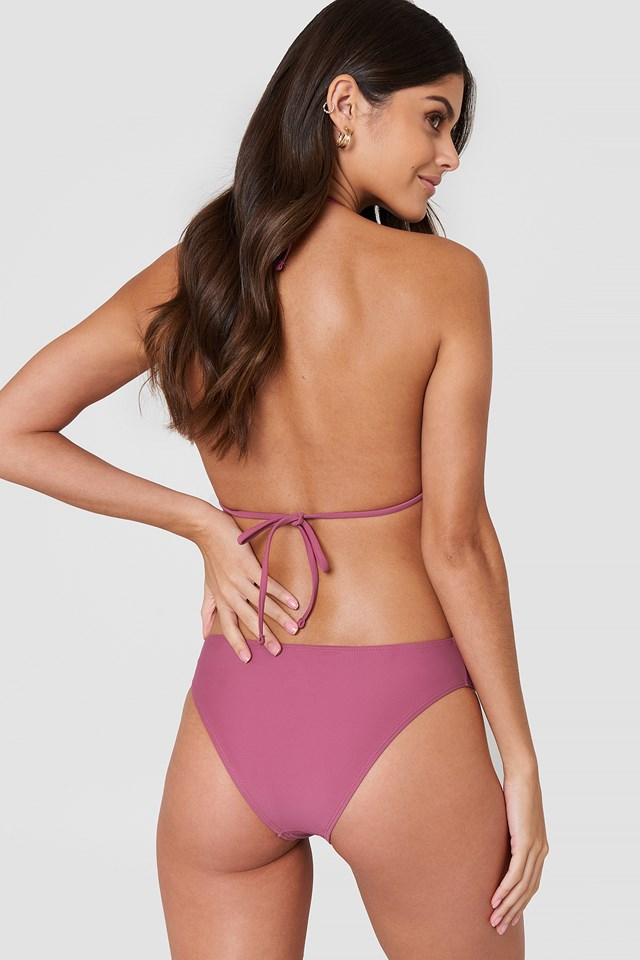 Tied Back Cup Swimsuit Purple Rose