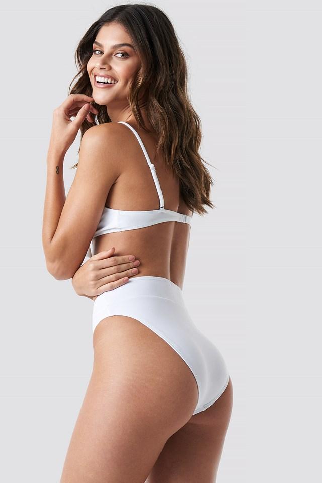 Tied Front Bikini Top White