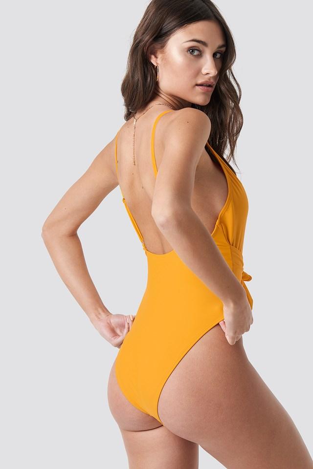 Tied Front Swimsuit Citrus