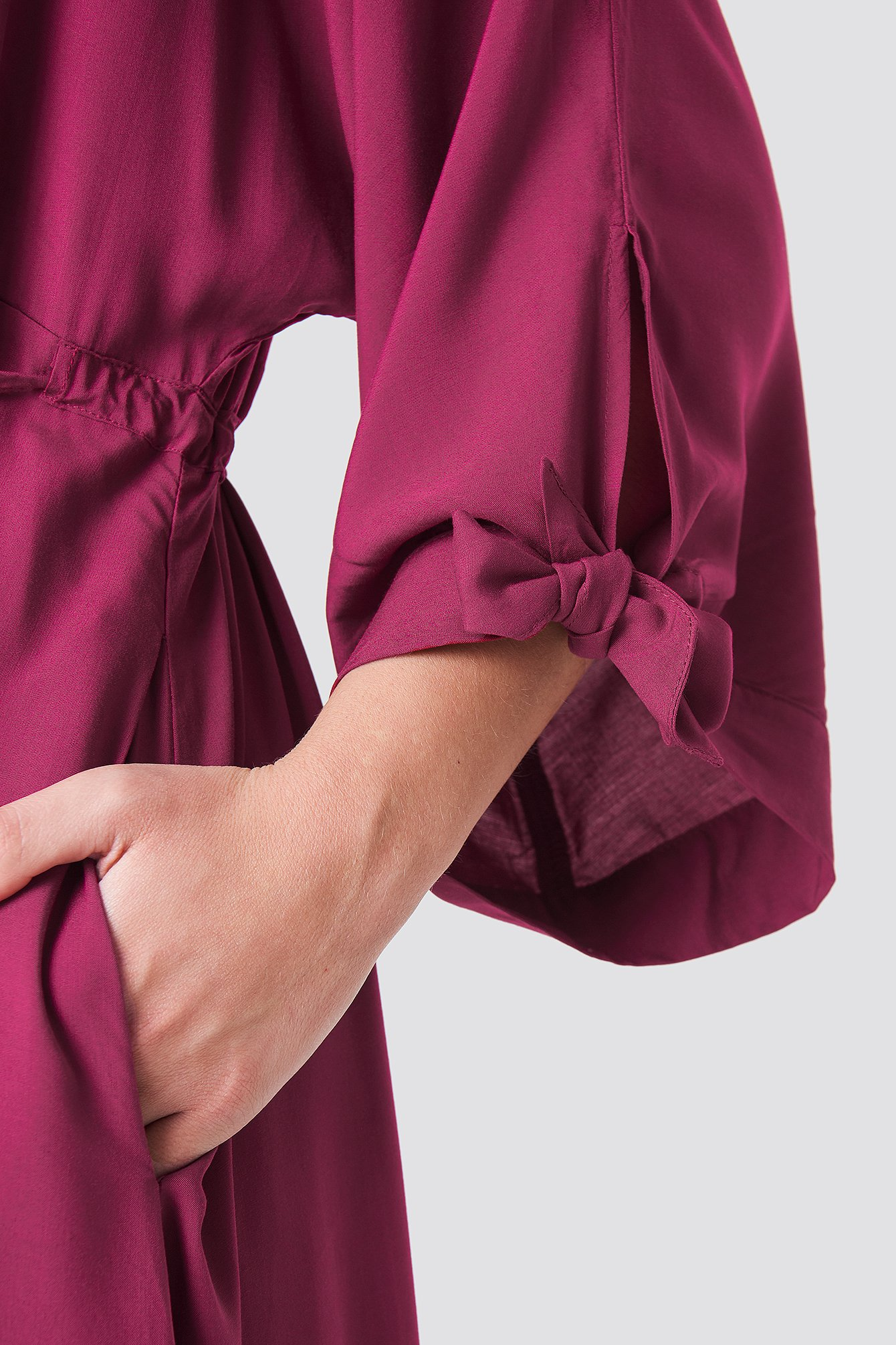 Tied Sleeve Coat Dress NA-KD.COM