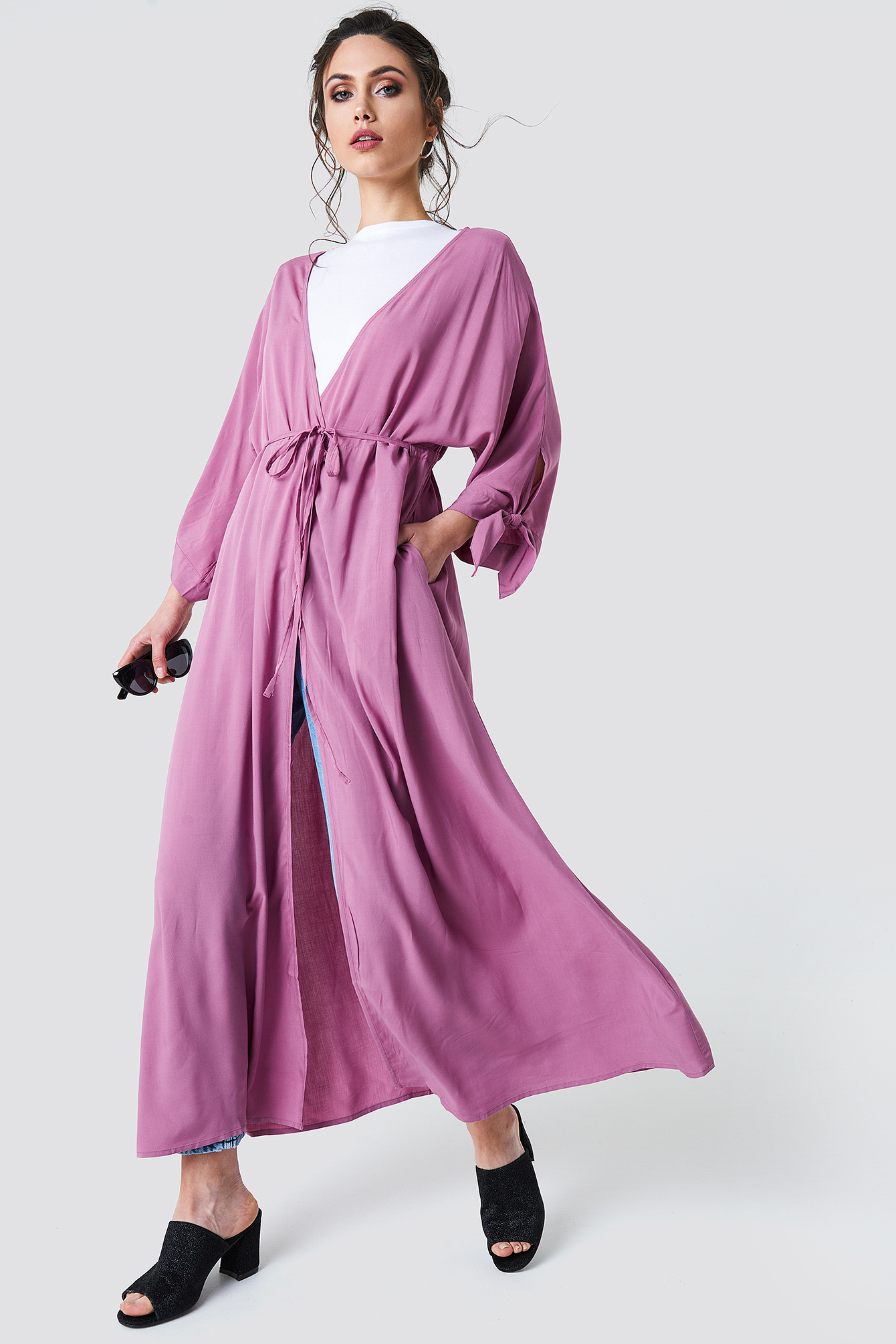 Tied Sleeve Coat Dress NA-KD.COM