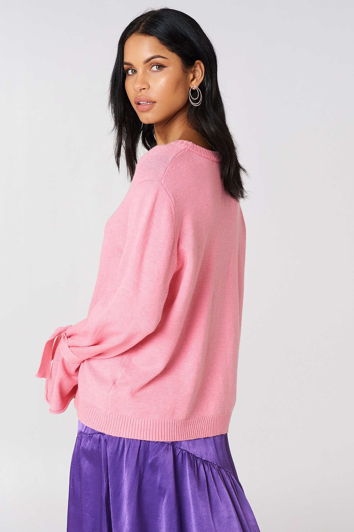 Tied Sleeve Knitted Sweater NA-KD.COM