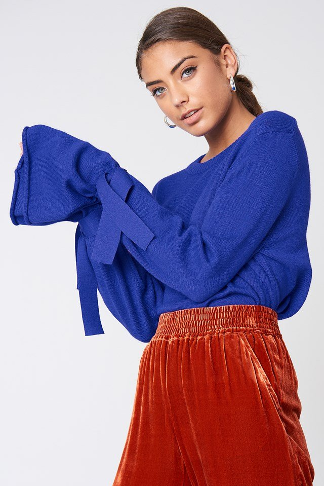 Tied Sleeve Knitted Sweater NA-KD