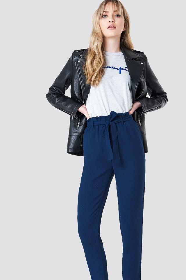 Spodnie z wiązaniem Dark Blue