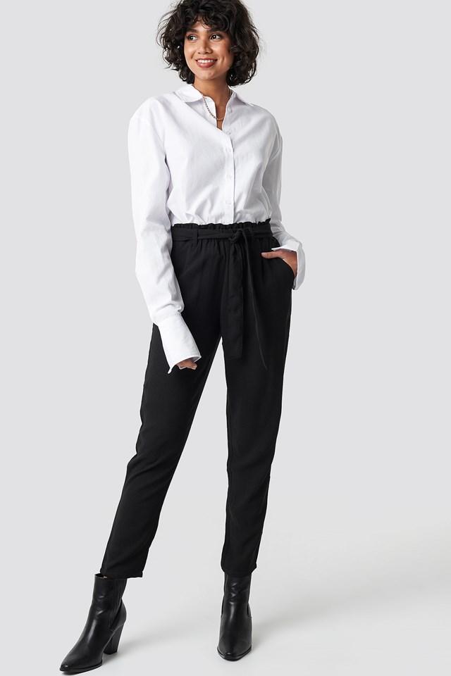 Spodnie z wiązaniem NA-KD.COM