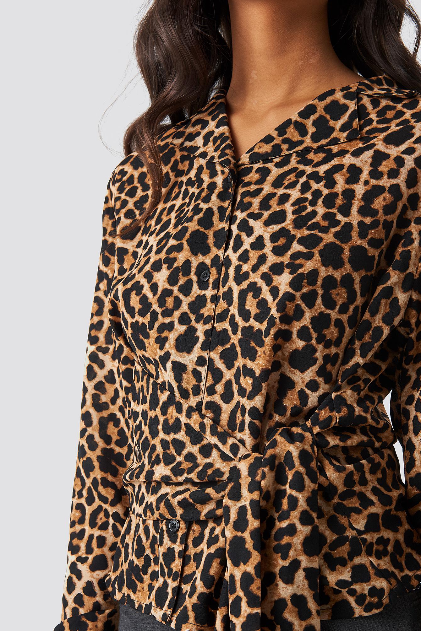 Tied Waist Printed Shirt NA-KD.COM