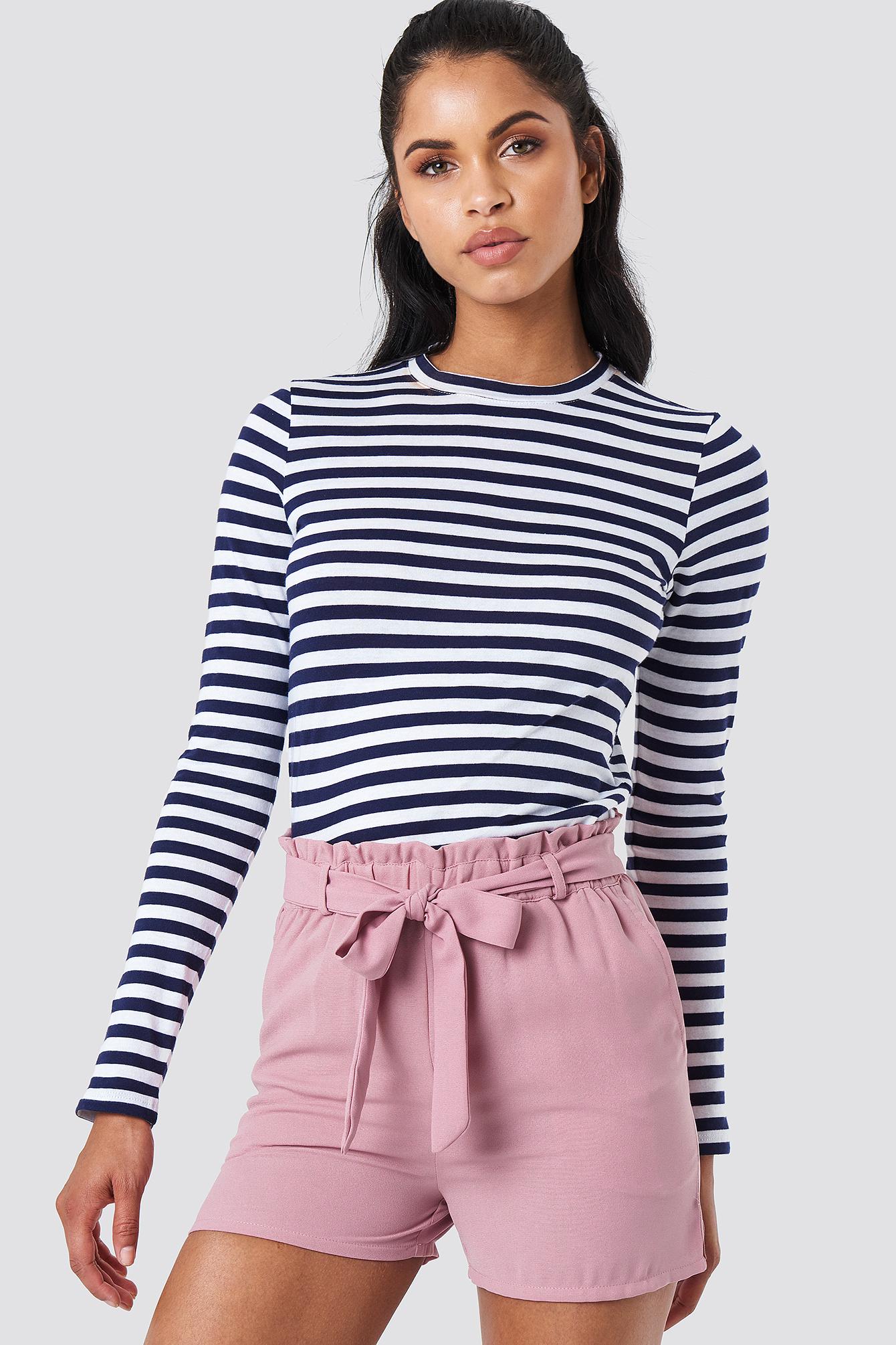NA-KD Tied Waist Shorts - Pink