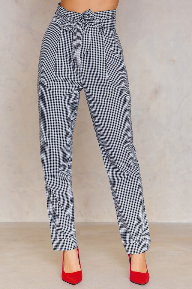 Tied Waist Straight Pants NA-KD.COM