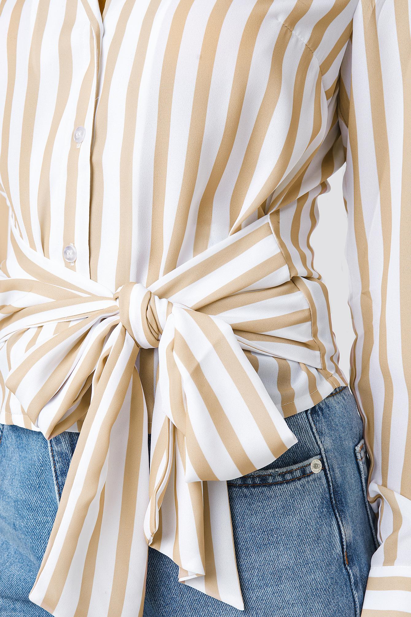Tied Waist Striped Shirt NA-KD.COM