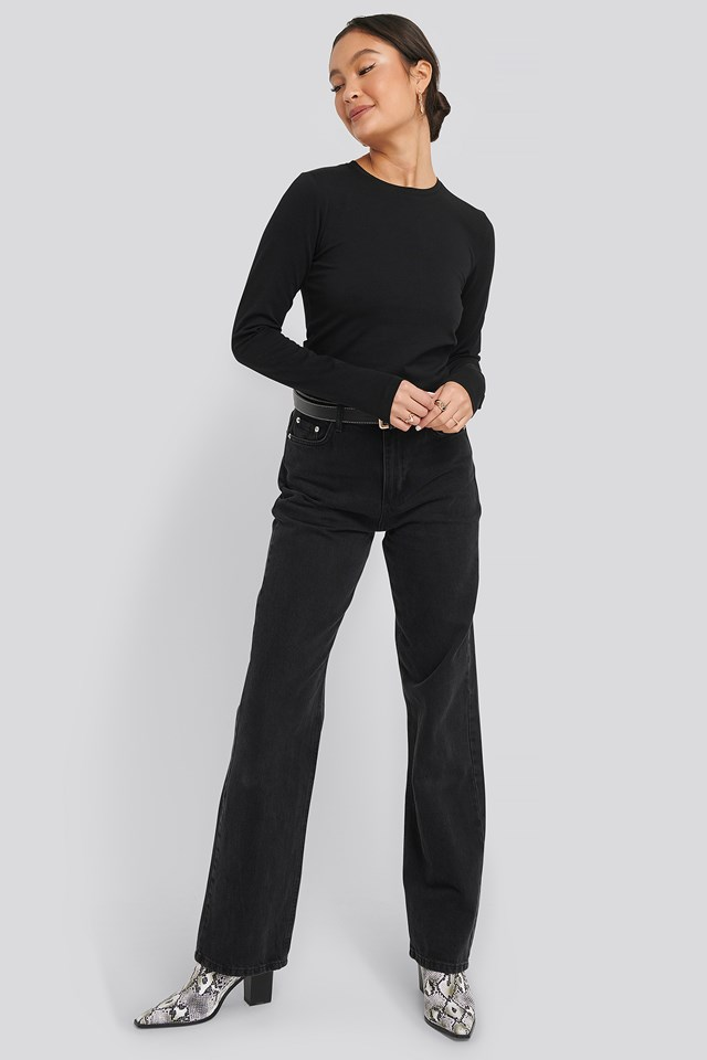Tight Cropped Tee Black