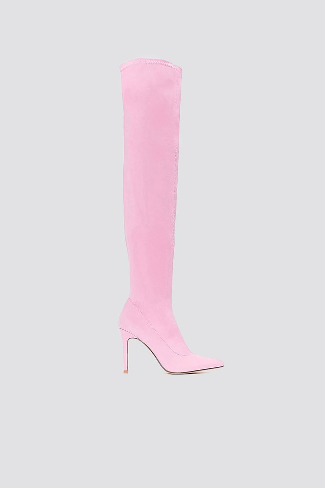 Tight Over Knee Boot Pink
