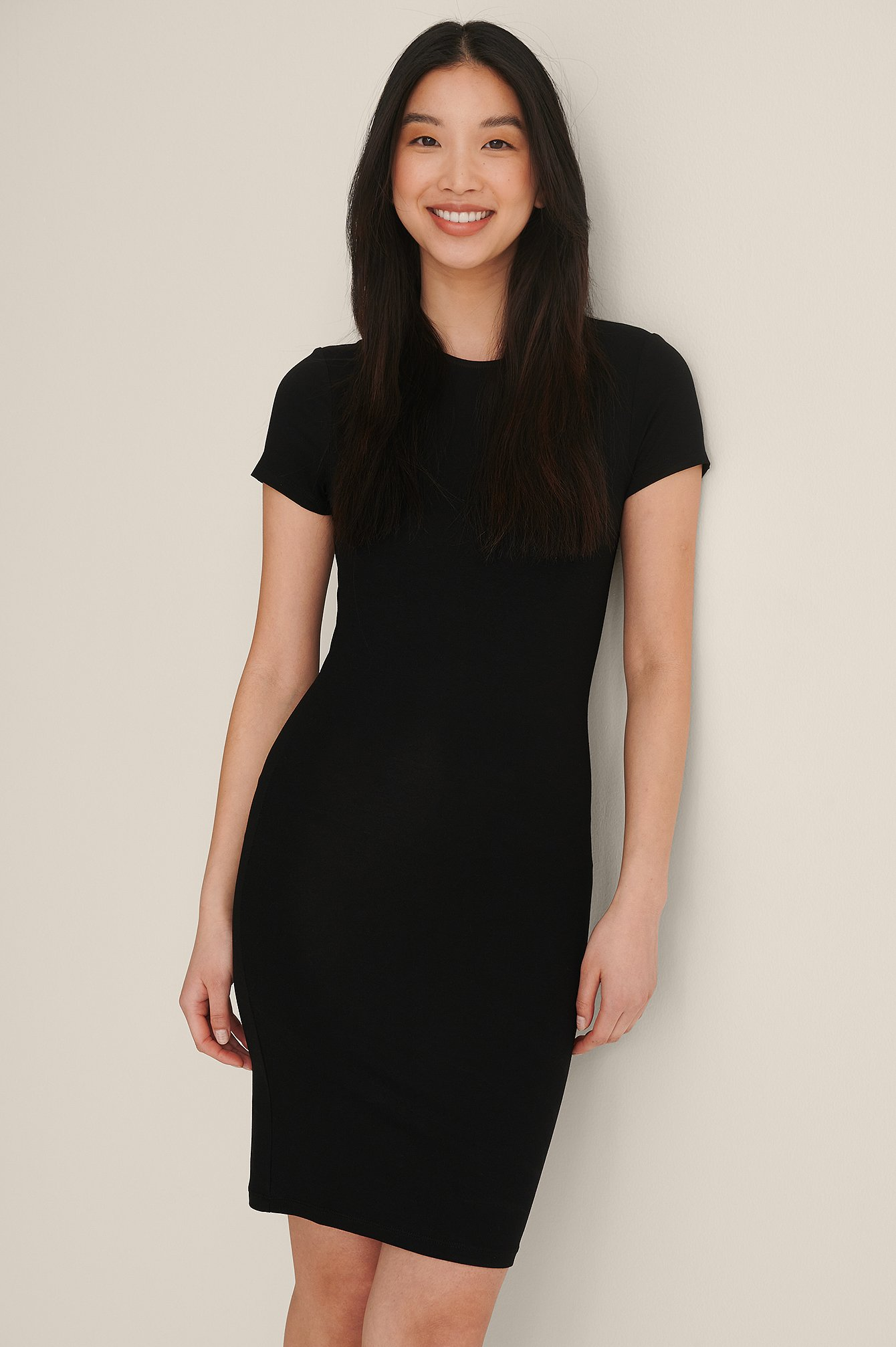 Black Tight T-Shirt Dress