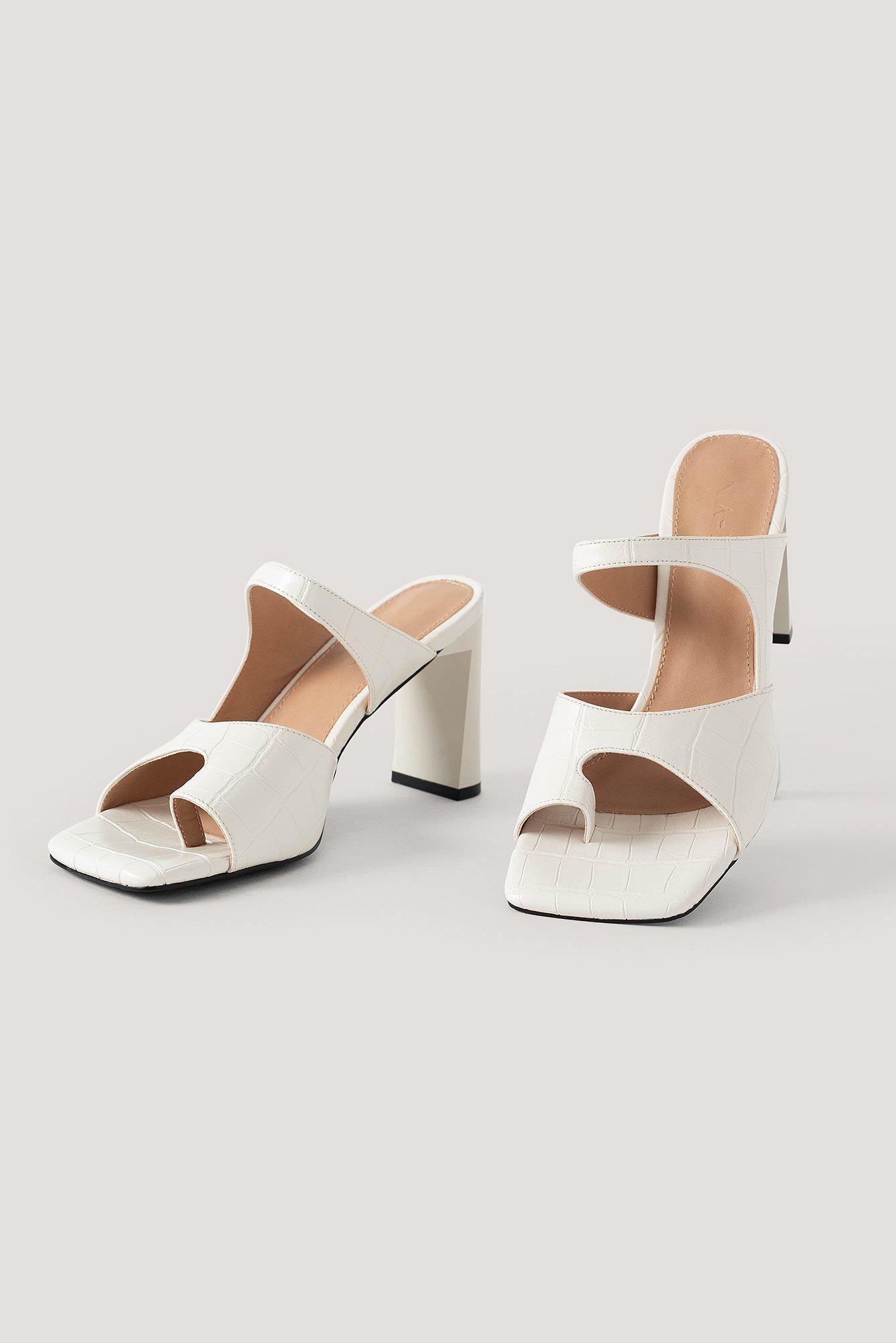 na-kd shoes -  Sandalen Mit Doppelten Riemen - White