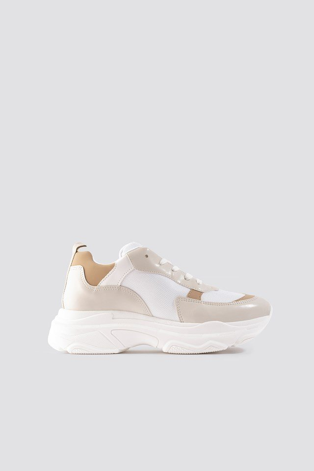 Tone In Tone Chunky Trainers Nude