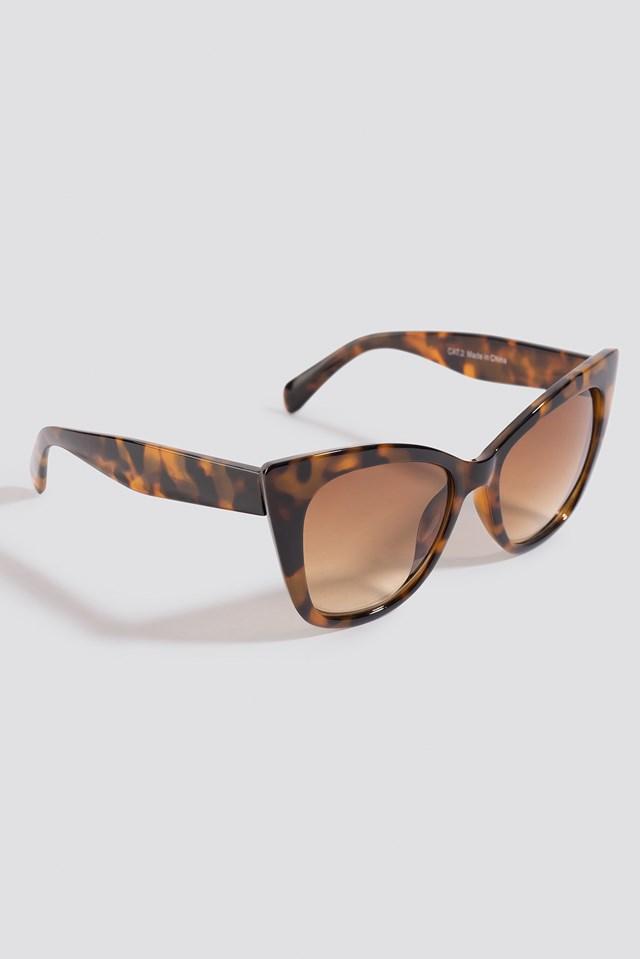 Top Edge Cateye Sunglasses Tortoise