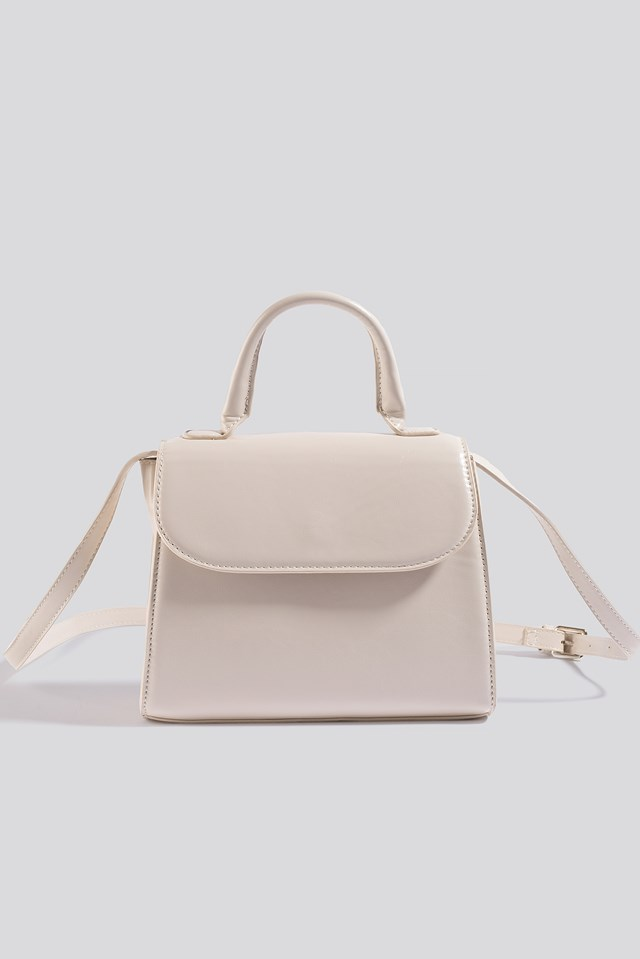 Top Handle Crossbody Bag Gloss Offwhite