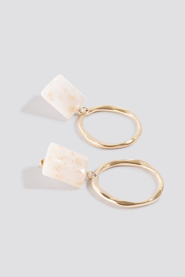 Top Stone Circle Earrings NA-KD.COM
