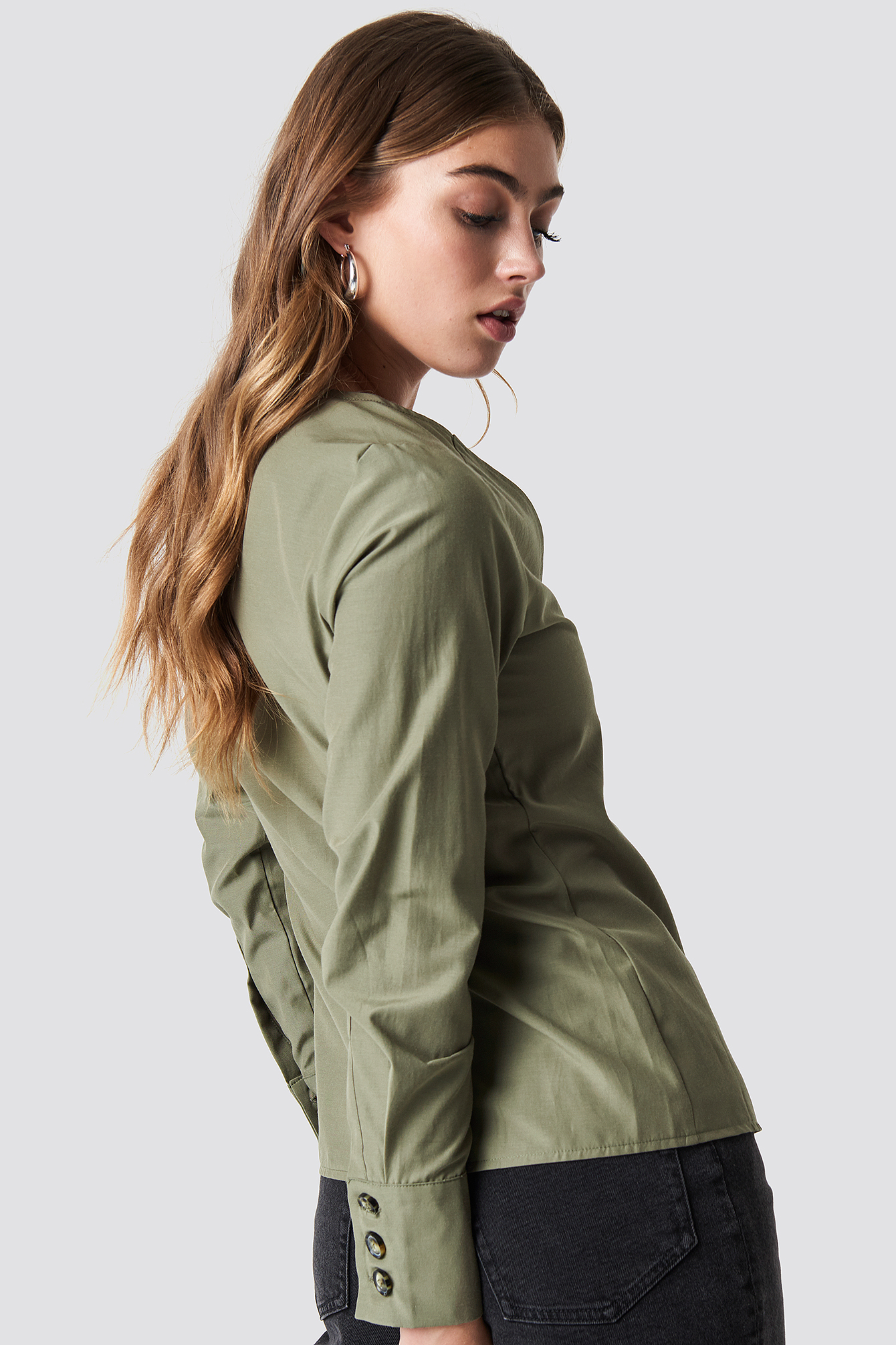 Tortoise Buttoned Blouse NA-KD.COM