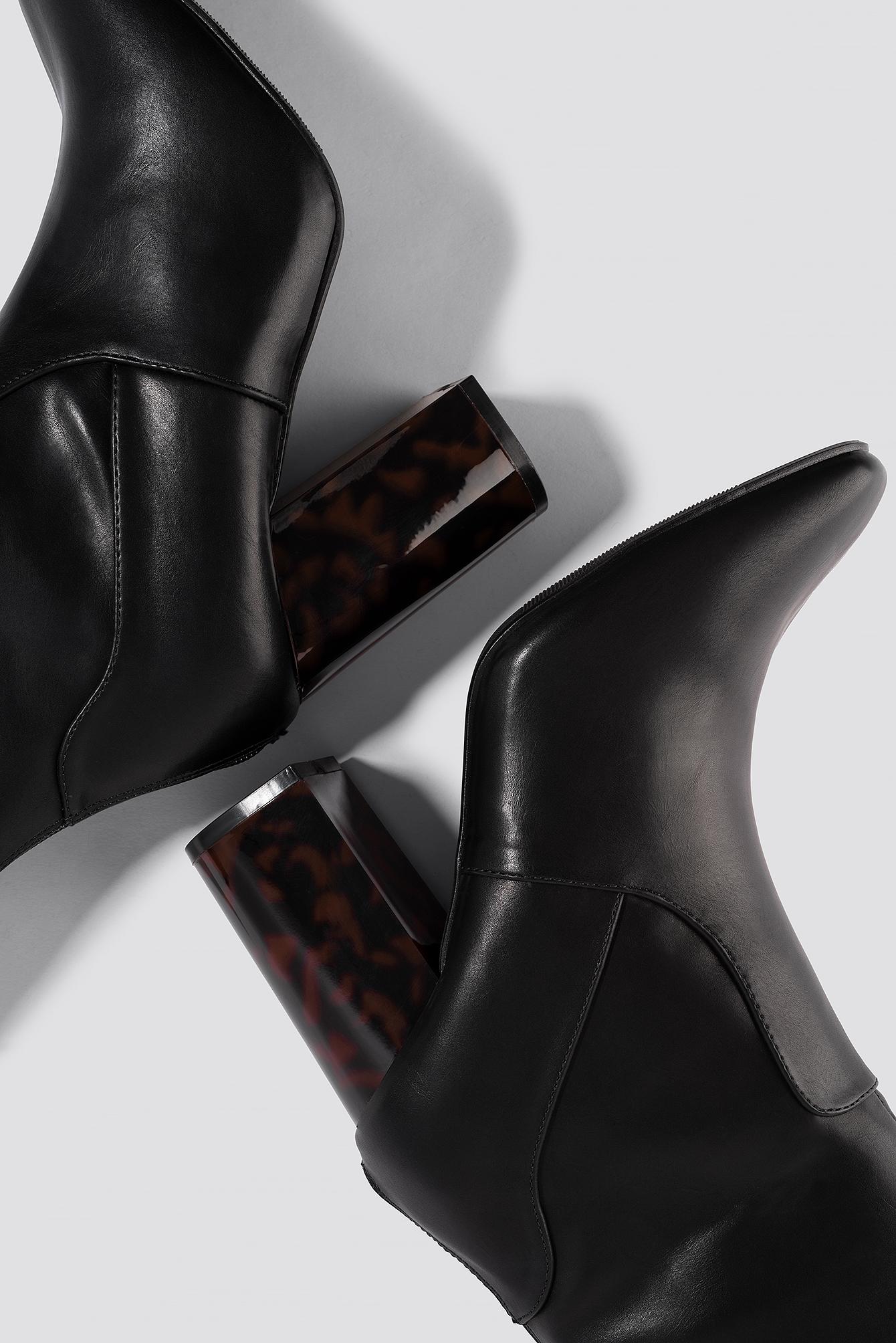 Tortoise Heel Boots NA-KD.COM