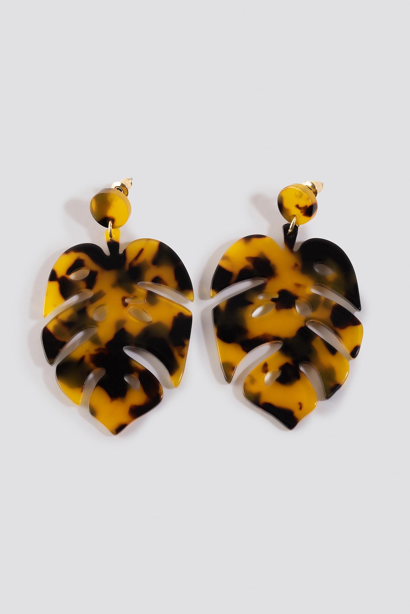 Tortoise Leaf Earrings NA-KD.COM
