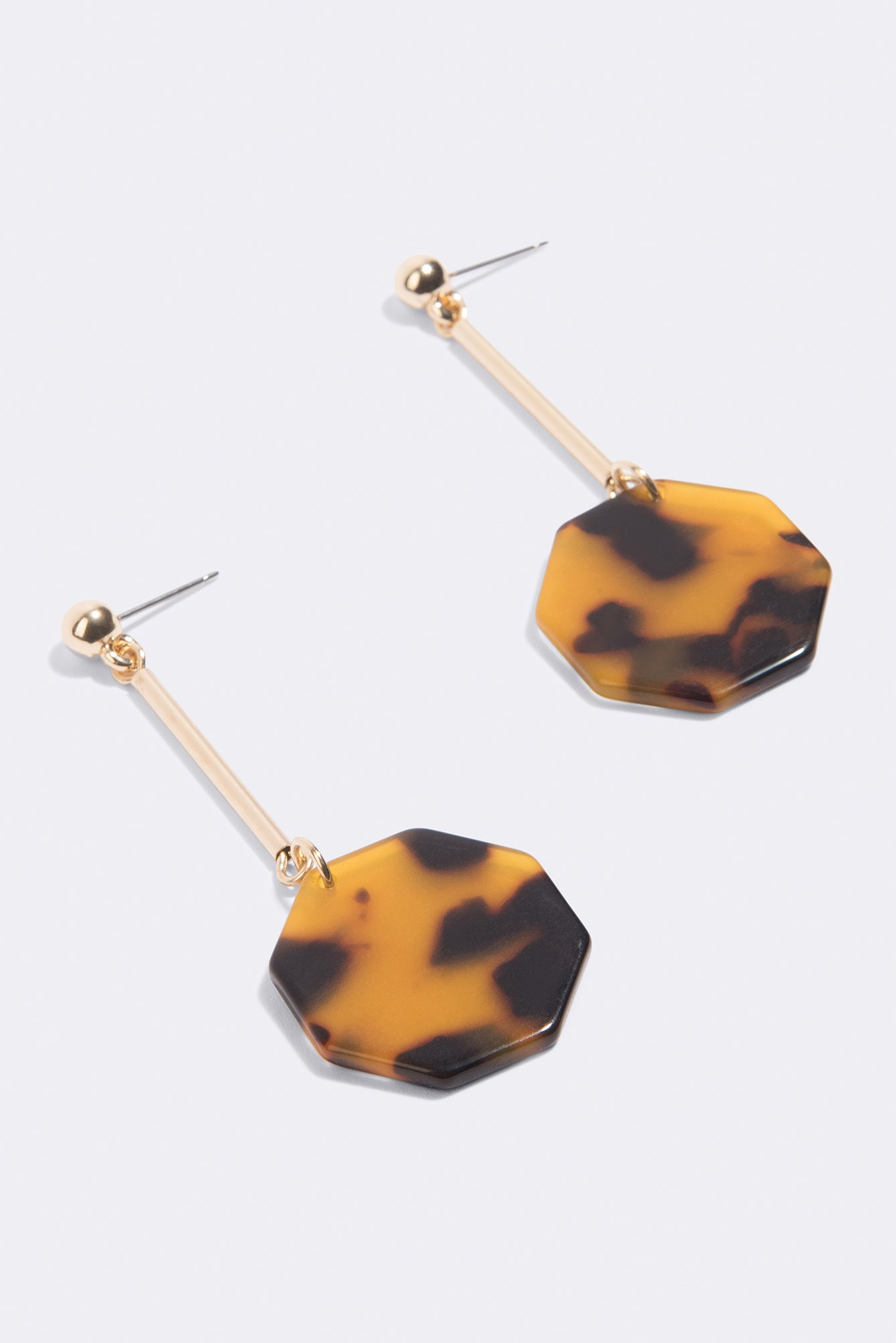 Tortoise Shell Octagon Drop Earrings NA-KD.COM