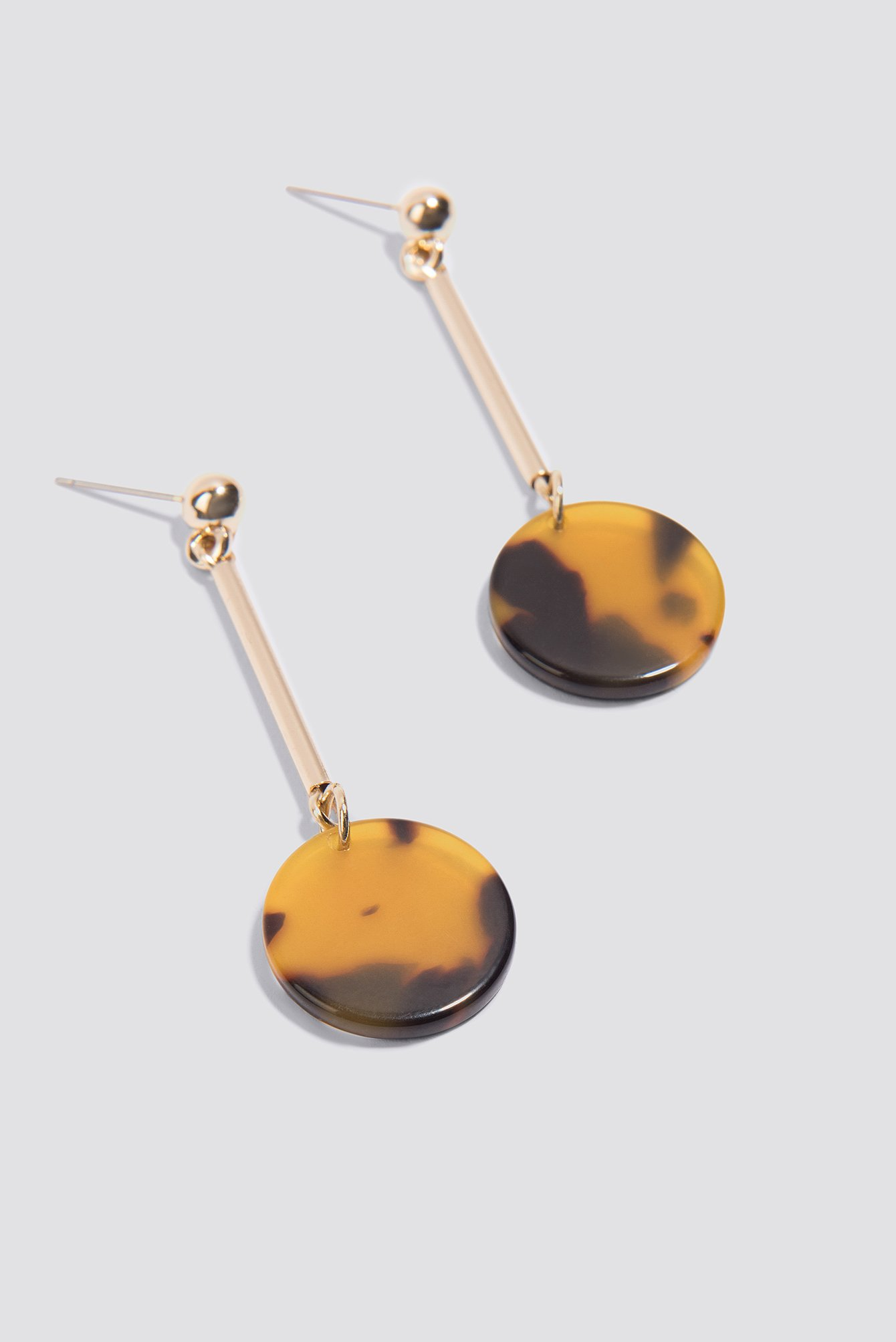 shell rectangle tortoise interlinked earrings drop