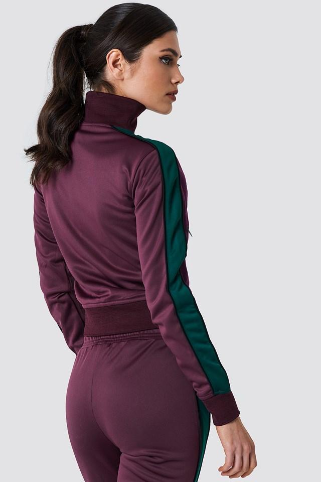 Track Zipped Sweater Bordeaux
