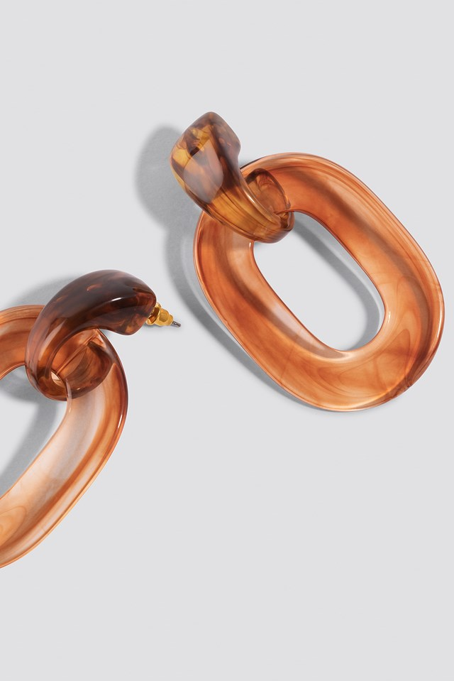 Transparent Resin Earrings NA-KD.COM