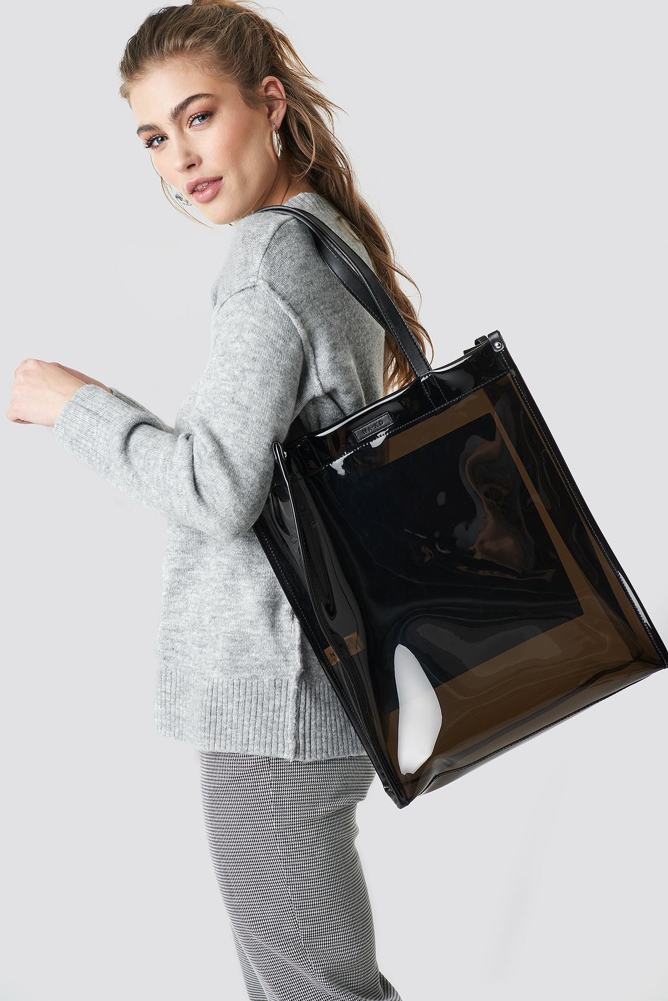 na-kd accessories -  Transparent Tote Bag - Black