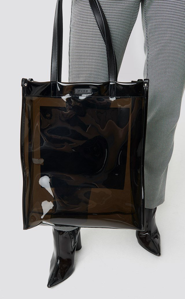 Transparent Tote Bag Black
