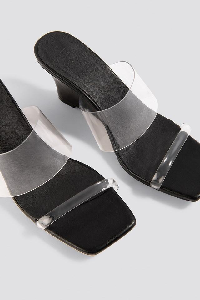 Transparent Wedge Heel Sandals NA-KD.COM