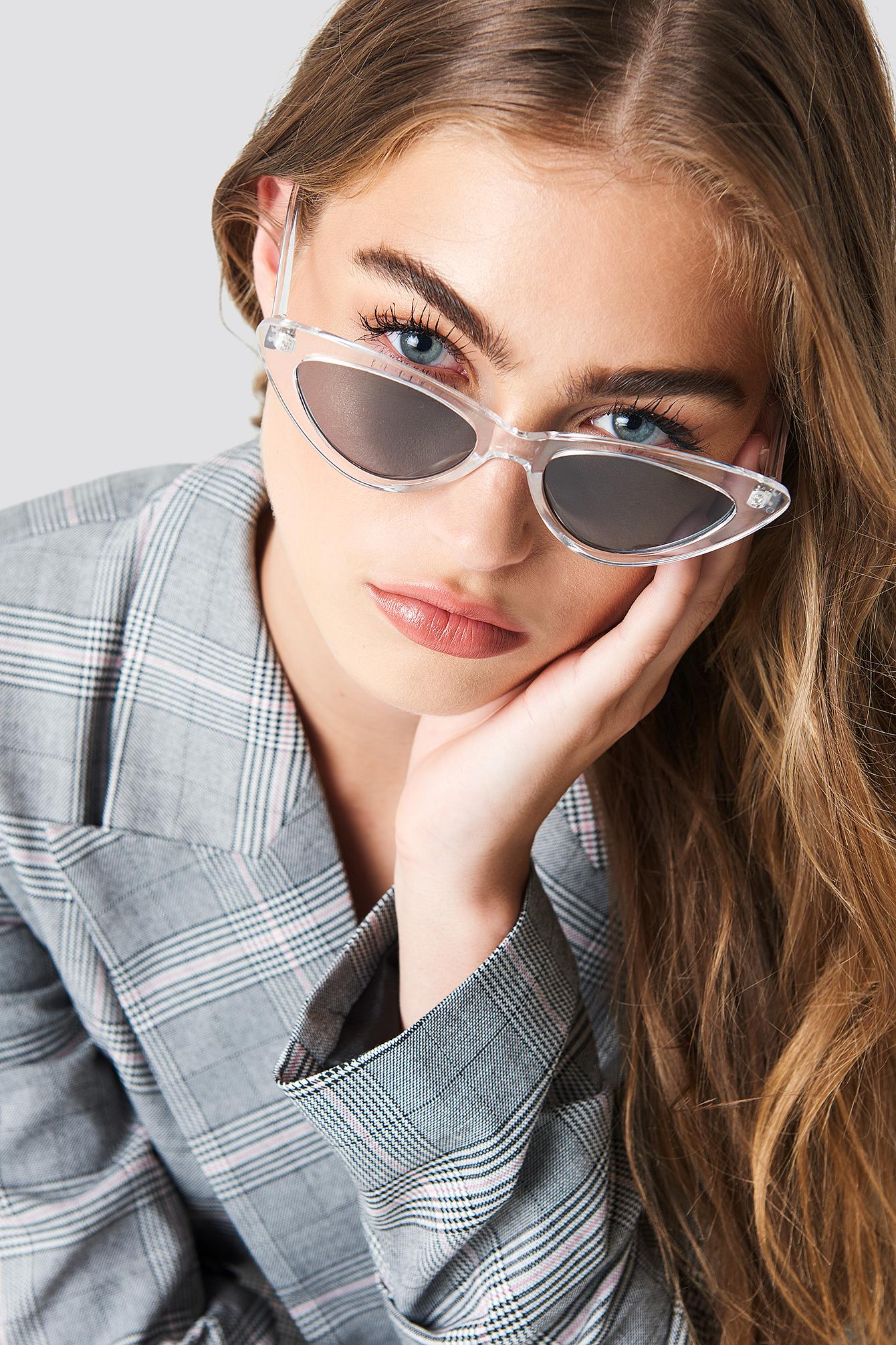 na-kd accessories -  Transparent Cateye Sunglasses - Black