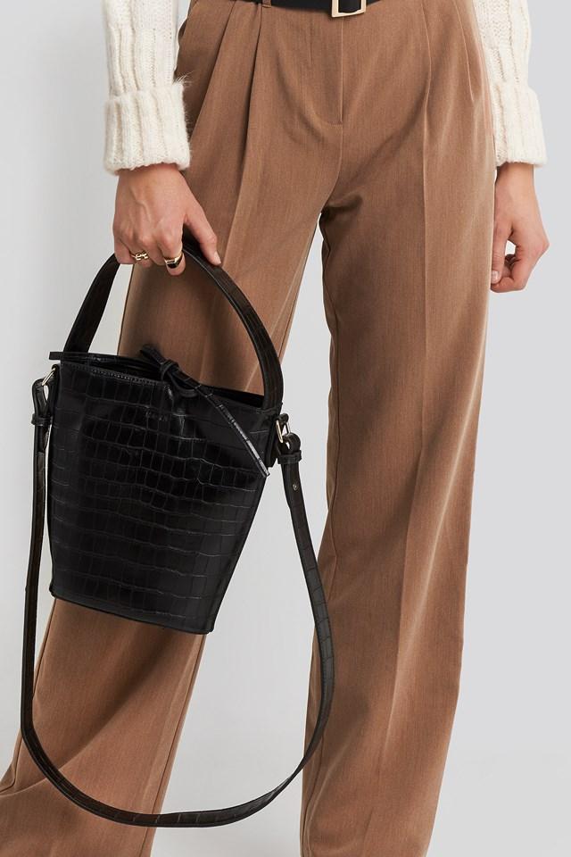 Trapez Bucket Bag Black