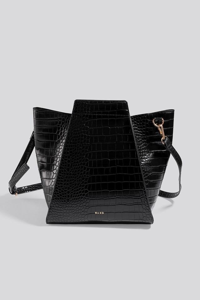 Trapeze Bucket Bag Black