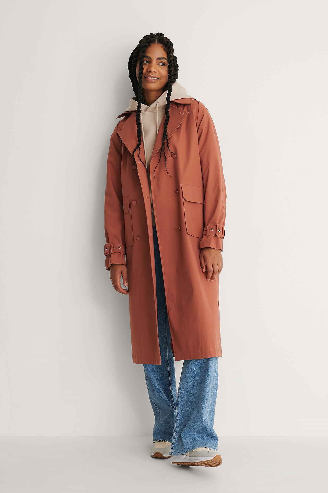 na-kd trend -  Trenchcoat - Pink