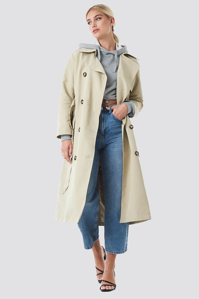 Pocket Detail Trenchcoat Beige