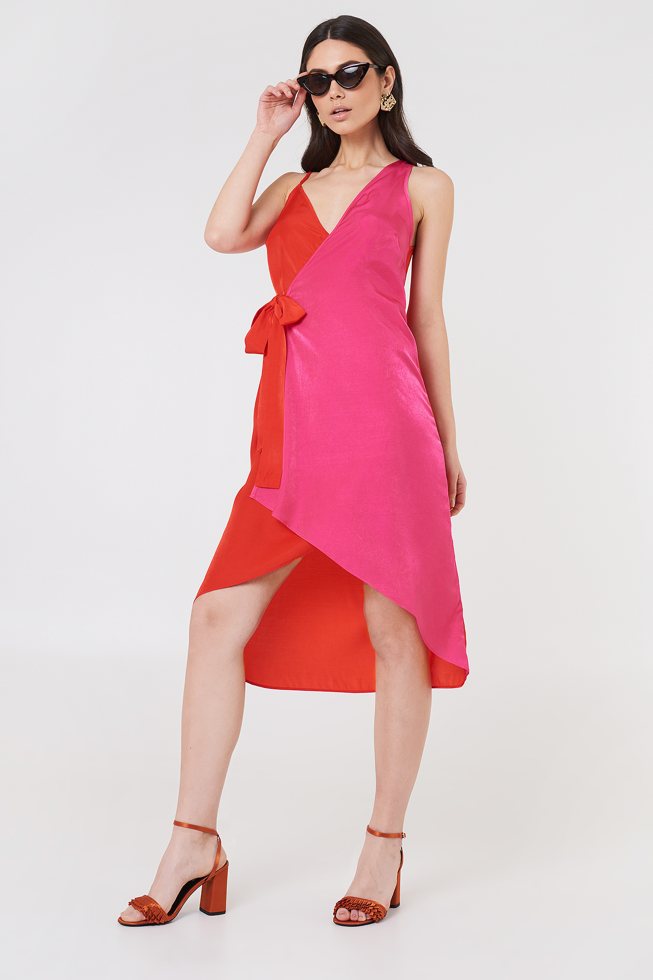Asymmetric Wrap Dress NA-KD.COM