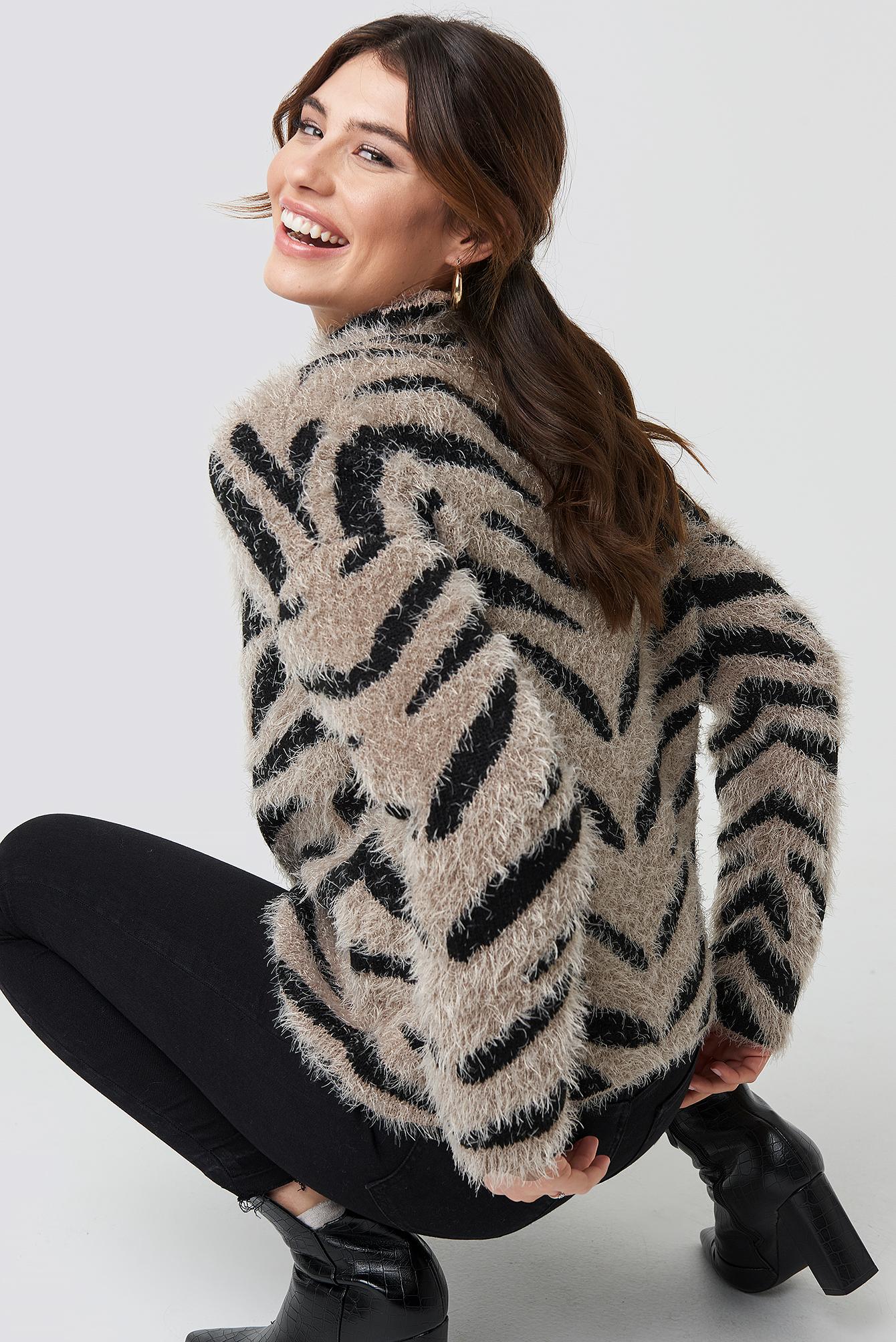 Hairy Zebra Knitted Sweater NA-KD.COM