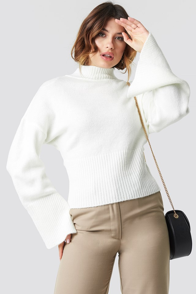 Open Sleeve Knitted Sweater NA-KD Trend