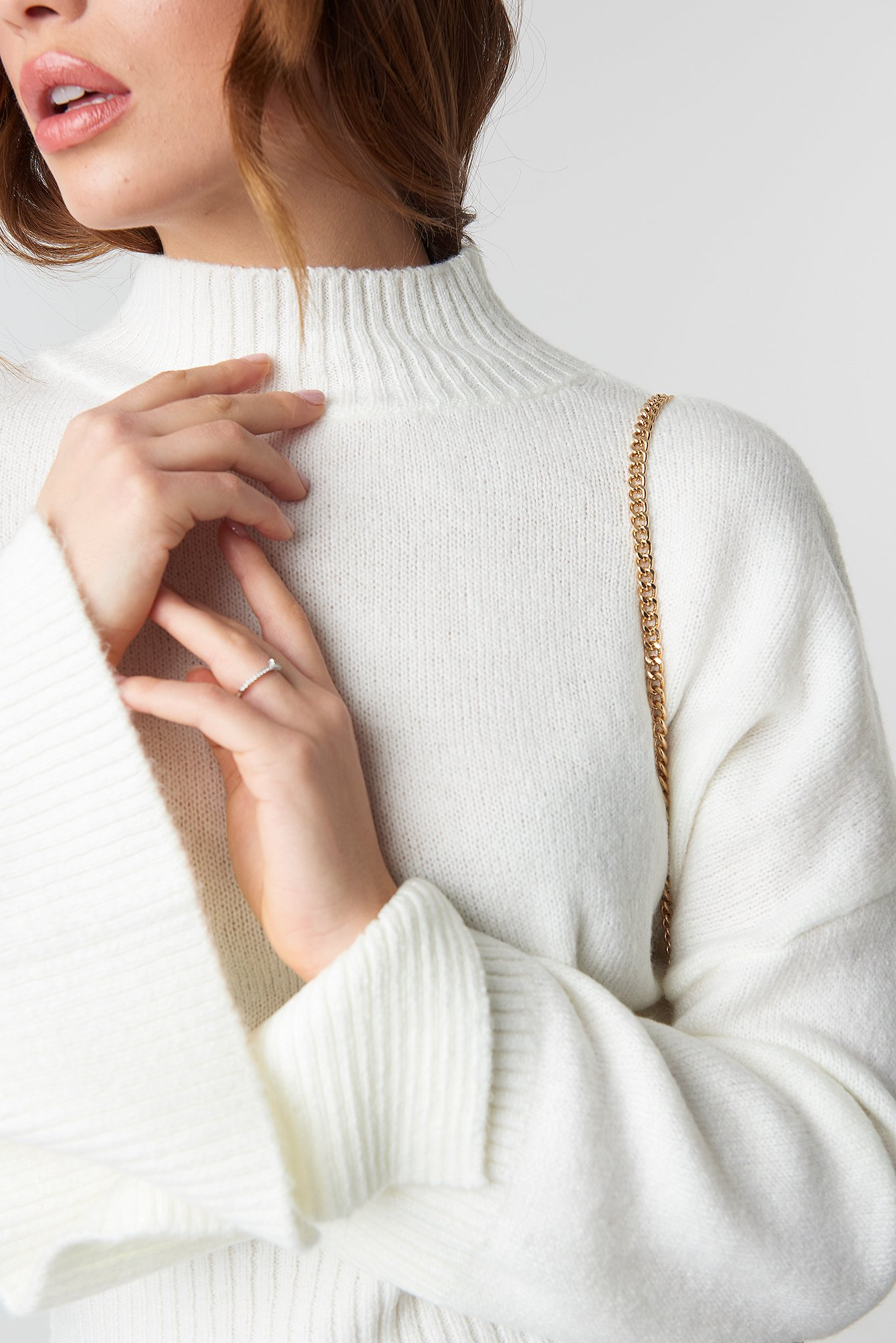 Open Sleeve Knitted Sweater NA-KD.COM