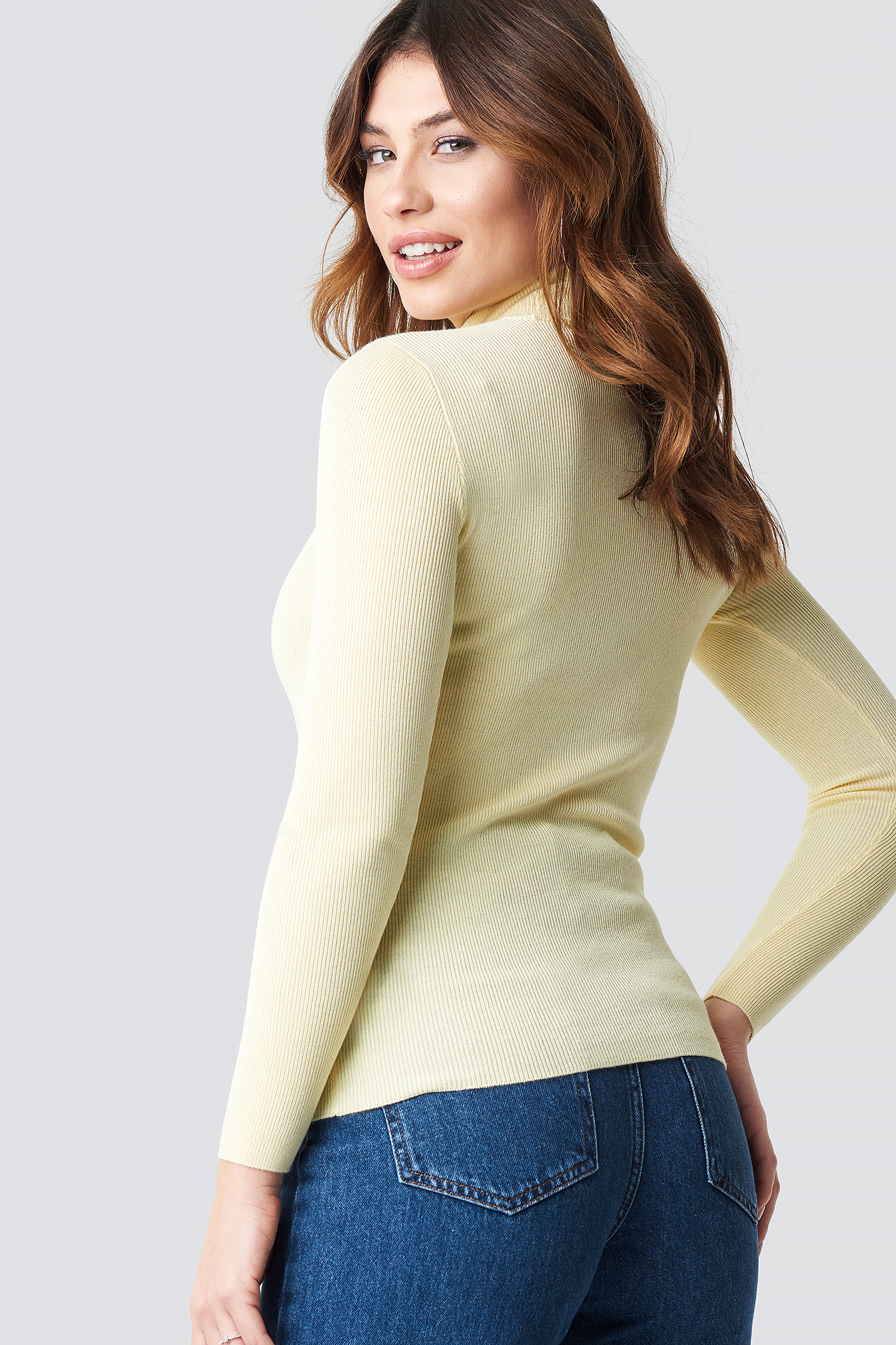 Ribbed Polo Knitted Sweater NA-KD.COM