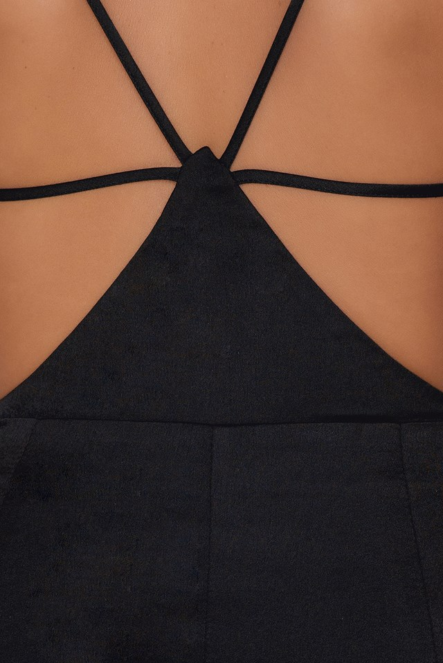 Triangle Back Dress Black