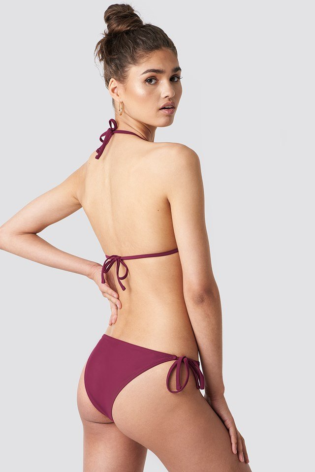 Triangle Bikini Top Burgundy
