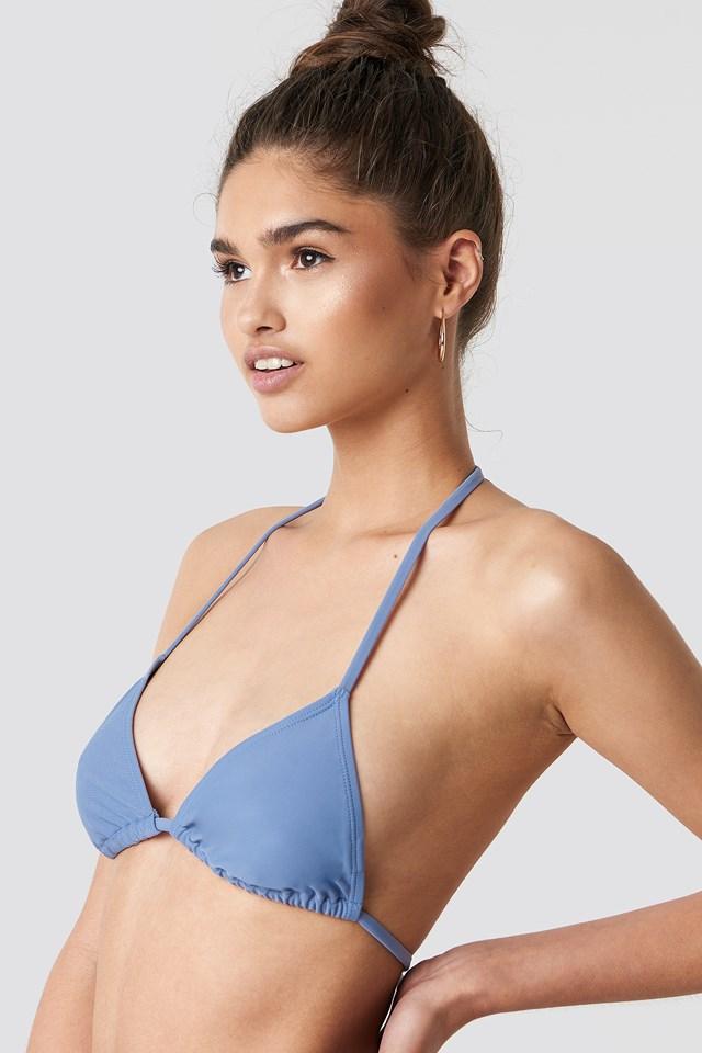 Triangle Bikini Top Blue Stone