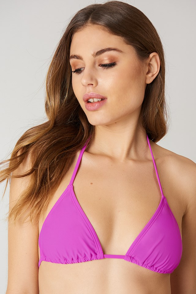 Triangle Bikini Top Strong Purple