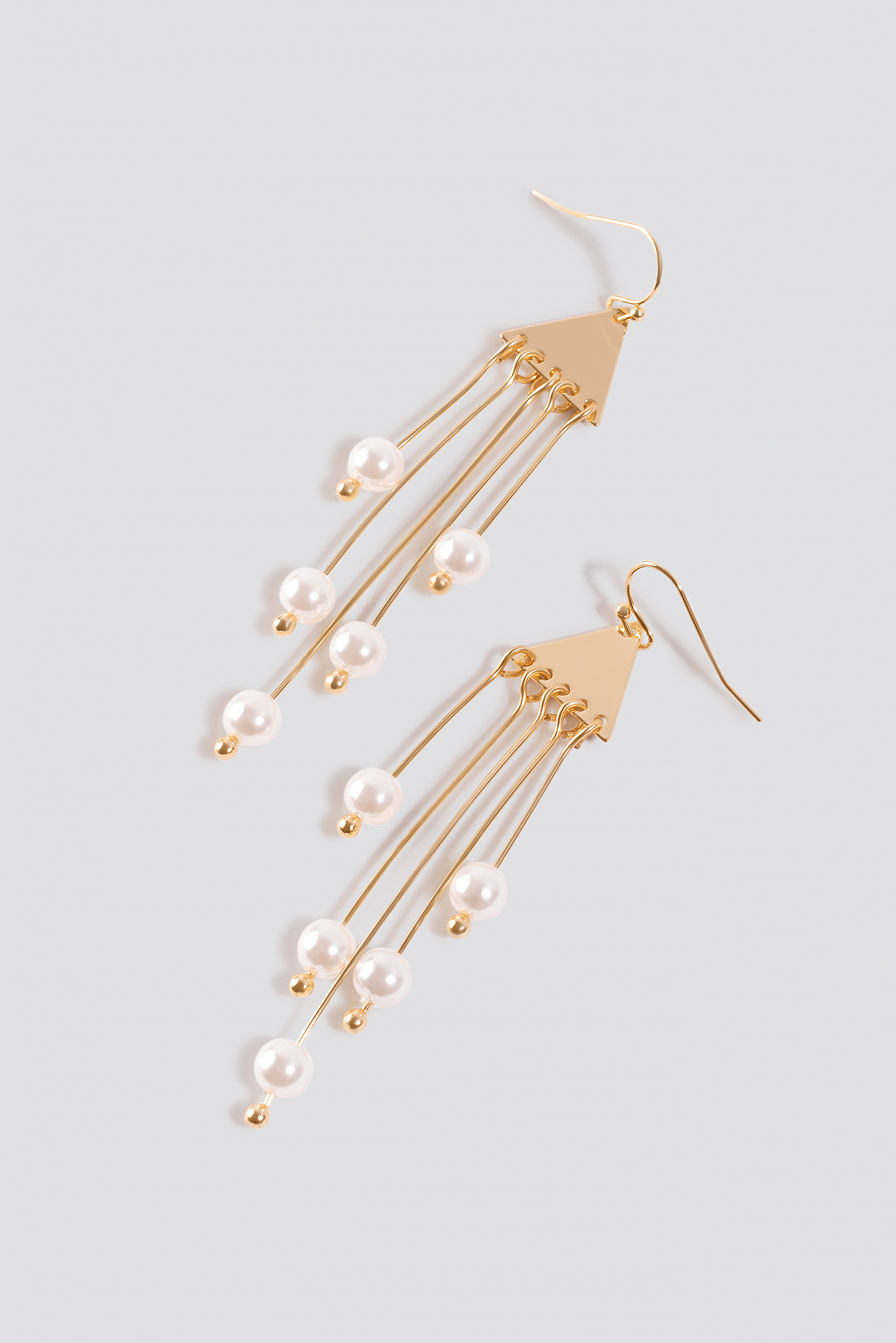 Triangle Pearl Drop Earrings NA-KD.COM