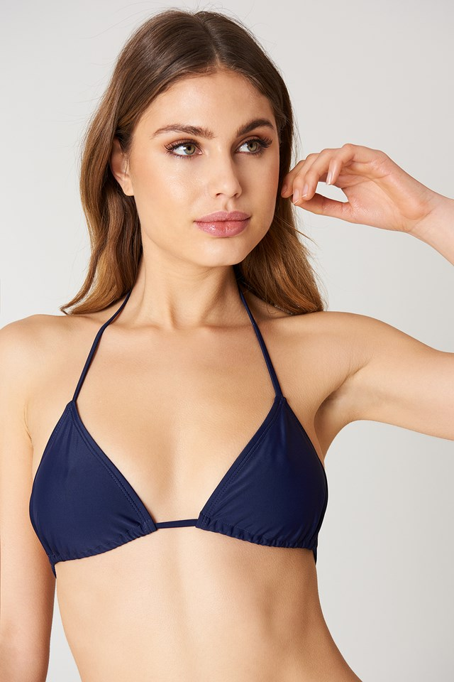 Triangle Bikini Top Midnight Blue