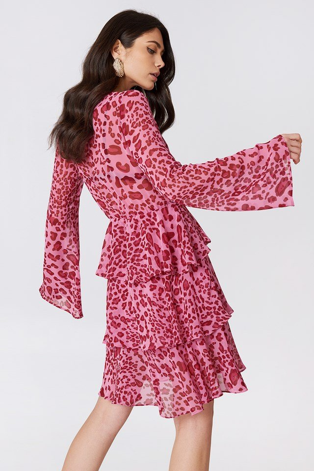 Sukienka z długim rękawem NA-KD.COM
